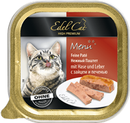 Edel Cat - Паштет для кошек (заяц с печенью)