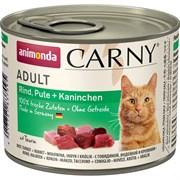 Animonda - Консервы для кошек (с говядиной, индейкой и кроликом) CARNY Adult