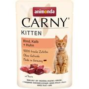 Animonda - Паучи для котят (с говядиной, телятиной и курицей) CARNY KITTEN