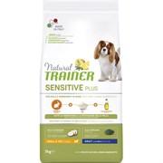 Trainer - Сухой беззерновой корм для взрослых собак мелких пород без глютена (с кроликом и рисом) Natural Sensitive Plus