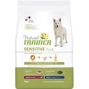 Trainer - Сухой беззерновой корм для взрослых собак средних и крупных пород без глютена (с кроликом и рисом) Natural Sensitive Plus