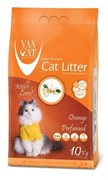 Van Cat - Наполнитель комкующийся без пыли для кошек (с ароматом апельсина) Orange