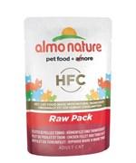"Almo Nature - Паучи для кошек ""Филе Тунца с курицей"", 75% мяса Classic Raw Pack Chicken and Tuna Fillets"