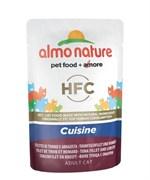 Almo Nature - Паучи для кошек (с Тунцом и Лобстером) Classic Cuisine Tuna Fillet and Lobster