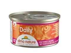 """Almo Nature - Консервы нежный мусс для кошек """"Меню с Тунцом и Лососем"""" Daily Menu Tuna and Salmon mousse"""