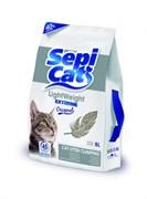 SepiCat - Наполнитель комкующийся облегченный экстра (без запаха) LightWeight Extreme Original