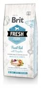 Brit Fresh - Сухой корм для взрослых собак крупных пород (с рыбой и тыквой) Fish with Pumpkin Adult Large