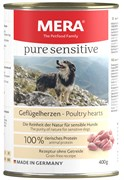 Mera - Консервы для собак (с куринными сердечками) PURE SENSITIVE NASSFUTTER GEFLUGELHERZEN