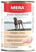 Mera - Консервы для собак (с индейкой) PURE SENSITIVE NASSFUTTER TRUTHAHN