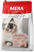 Mera - Сухой полнорационный корм для взрослых кошек для красивой кожи и шерсти (с птицей) FINEST FIT HAIR & SKIN