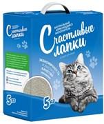 """Чистые Лапки - Наполнитель комкующийся для кошек """"Счастливые лапки"""" (кипрская глина)"""