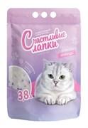 """Чистые Лапки - Наполнитель силикагелевый для кошек """"Счастливые лапки"""" (с ароматом лаванды)"""