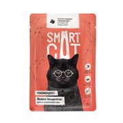 Smart Cat - Паучи для взрослых кошек и котят (кусочки говядины в нежном соусе)