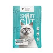 Smart Cat - Паучи для взрослых кошек и котят (кусочки лосося в нежном соусе)