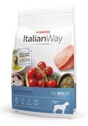 Italian Way - Сухой корм безглютеновый для взрослых собак крупных пород с чувствительной кожей (лосось и сельдь) Maxi Hypoallergenic Salmon/Herrings