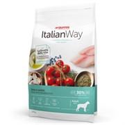 """Italian Way - Сухой корм беззерновой для собак крупных пород """"Контроль веса"""" и """"Профилактика аллергии"""" (со свежей форелью и черникой) Maxi Ideal Weight Trout/Blueberry"""