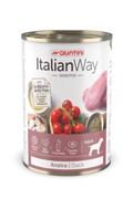 Italian Way - Консервы безглютеновые для собак всех пород с чувствительным пищеварением (с уткой, томатами и картофелем) Sensitive DuckI