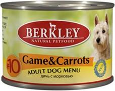 Berkley - Консервы для собак (с дичью (олениной) и морковью) Adult Game&Carrots