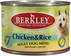 Berkley - Консервы для собак (с цыпленком и рисом) Adult Chicken&Rice