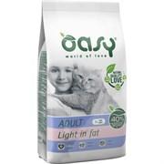 OASY - Сухой корм для взрослых кошек склонных к ожирению (с курицей) Dry Cat Adult Light in fat