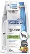 Forza10 - Сухой диетический корм для взрослых собак средних пород при аллергии (с олениной и картофелем) Medium Diet