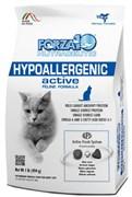 Forza10 - Сухой гипоаллергенный корм для взрослых кошек (с рыбой и рисом) Hypoallergenic Active