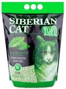 Сибирская кошка - Комкующийся наполнитель для кошек Тофу (зеленый чай)