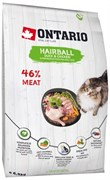 Ontario - Сухой корм для вывода шерсти у кошек (с уткой и курицей) Cat Hairball