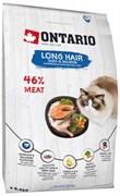 Ontario - Сухой корм для длинношерстных кошек (с уткой и лососем) Cat Longhair
