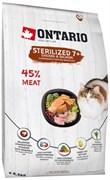 Ontario - Сухой корм для пожилых стерилизованных кошек (с курицей) Cat Sterilised 7+