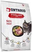 Ontario - Сухой корм для стерилизованных кошек (с ягненком) Cat Sterilised Lamb