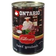 """Ontario - Консервы для собак """"Гуляш из говядины"""" Culinary Beef Goulash"""