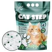 Cat Step - Впитывающий  силикагелевый наполнитель для кошек Crystal Fresh Mint