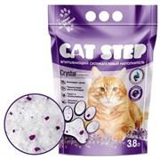 Cat Step - Впитывающий  силикагелевый наполнитель для кошек Crystal Lavander