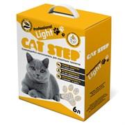 Cat Step - Комкующийся бентонитовый наполнитель для кошек Professional Light