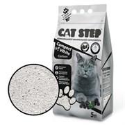 Cat Step - Комкующийся минеральный наполнитель для кошек Compact White Carbon