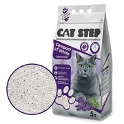 Cat Step - Комкующийся бентонитовый наполнитель для кошек Compact  White Lavеnder