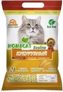 """Homecat - Кукурузный комкующийся наполнитель для кошек """"Эколайн"""""""