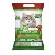 """Homecat - Наполнитель комкующийся для кошек Зеленый чай """"Эколайн"""""""