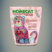 Homecat - Силикагелевый наполнитель для кошачьих туалетов с ароматом розы