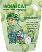 Homecat - Силикагелевый наполнитель для кошачьих туалетов с ароматом яблока