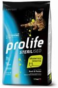 Prolife - Сухой корм беззерновой для взрослых стерилизованных кошек с чувствительным пищеварением (со свежим мясом перепела и картофелем) Sterilised Grain Free Adult