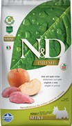 Farmina - Беззерновой корм для взрослых собак мелких  пород (кабан с яблоком) N&D Line boar&apple adult mini