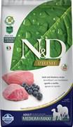 Farmina - Беззерновой корм для взрослых собак средних и крупных пород (ягненок с черникой) N&D Line lamb&blueberry adult maxi