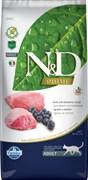Farmina - Беззерновой корм для взрослых кошек (ягненок с черникой) N&D Line lamb&blueberry adult