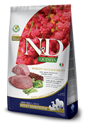 """Farmina - Беззерновой корм """"Контроль веса"""" для взрослых собак (с киноа и ягненком) N&D Quinoa weight management lamb adult"""