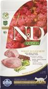 """Farmina - Беззерновой корм """"Контроль веса"""" для взрослых кошек (с киноа и ягненком) N&D Quinoa weight management lamb adult"""