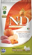 Farmina - Беззерновой корм для взрослых собак мелких пород (кабан с яблоком и тыква) N&D Pumpkin boar & apple adult mini dog