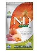 Farmina - Беззерновой корм для взрослых собак средних и крупных пород (кабан с яблоком и тыква) N&D Pumpkin boar & apple adult medium & maxi