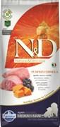 Farmina - Беззерновой корм для щенков средних и крупных пород (ягненок с черникой и тыква) N&D Pumpkin lamb & blueberry puppy medium & maxi dog